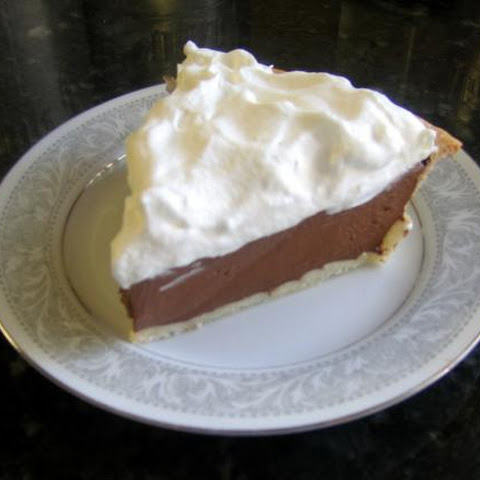 Cocoa Cream Pie with Whipped Cream