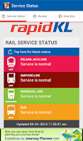 Screenshot of RapidKL Travel Guide