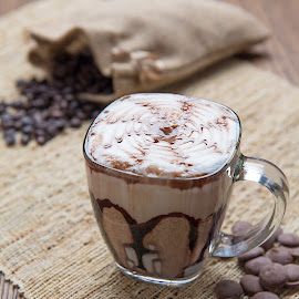 Mocha by Steely Bob - Food & Drink Alcohol & Drinks ( mocha, chocolate, coffee beans, coffee, morning )
