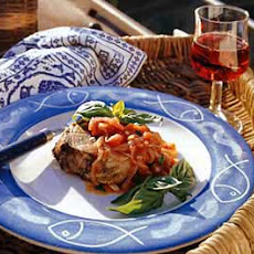 Tuna with Tomato-Basil Sauce