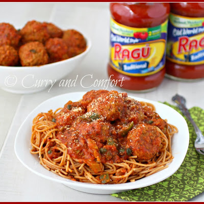 Chicken Cacciatore Spaghetti and Meatballs with Ragu® Old World Style® Traditional Pasta Sauce