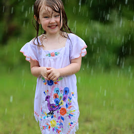 happiness by Susan Becker - Babies & Children Toddlers ( laughing, rain boots, happy, toddler, rain,  )