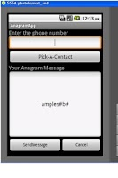 Screenshot of AnagramCreator