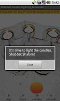 Screenshot of Shabbat Candle Lighting