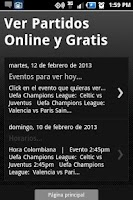 Screenshot of FUTBOL GRATIS