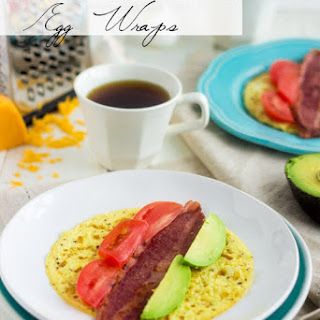 Egg Breakfast Wraps with Bacon, Avocado and Tomato