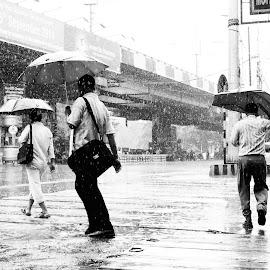 The Dirction by Sayantan Chowdhury - Novices Only Street & Candid ( street life, rainy, rainy day, street, raindrop, raindrops, street scene, rain, street photography )