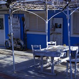 Shop by Stratos Lales - City,  Street & Park  Historic Districts ( shop, tourist, village, street, island )