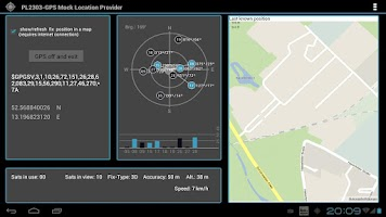 Screenshot of PL2303GPS MockLocationProvider