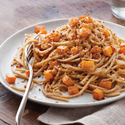 Whole-Wheat Spaghetti with Roasted Squash