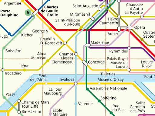 Paris Metro Stations Near The Tour Eiffel