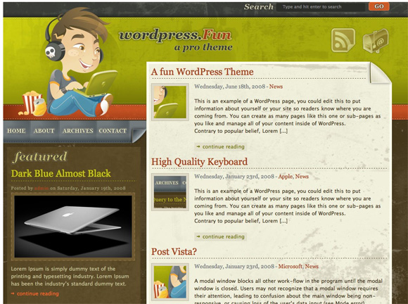 Шаблон для WordPress - wordpress.fun