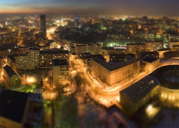 Киев в миниатюре - зима в городе