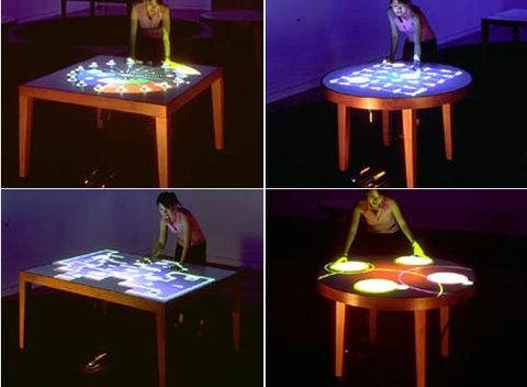 Проекция изображений на стол и управление ими в реальном времени