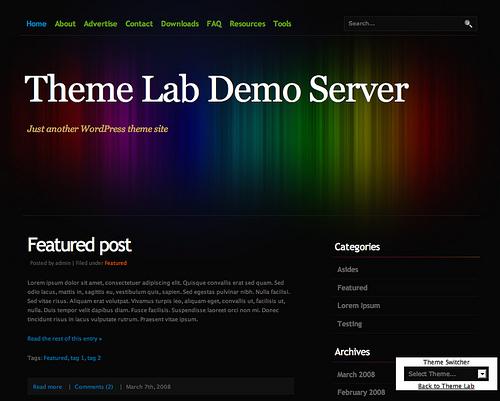 темный шалон для WordPress