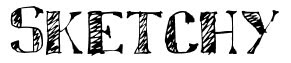 схематический шрифт