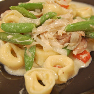 Chicken Tortellini with Snow Peas