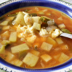 Chayote Squash and Zucchini Soup