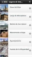 Screenshot of Zaragoza AudioGuia, España