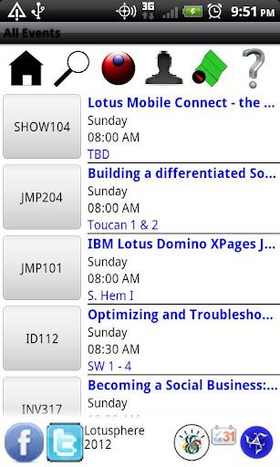 Lotusphere 2012 Scheduler