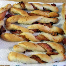 Bacon Wrapped Parmesan Breadsticks