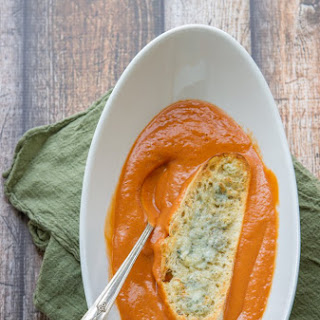 Creamy Vitamix Tomato Soup With Gorgonzola Croutons (includes Traditional Version, Too)