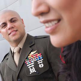 A Happy Marine by Yansen Setiawan - Wedding Details ( pride, marine, wedding day, weddings, wedding, marine corps, groom )