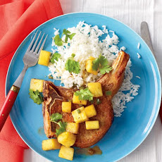 Pork Chops with Pineapple and Rice