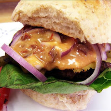 Blazing Bronco Burgers With Smoking Chipotle Honey Sauce