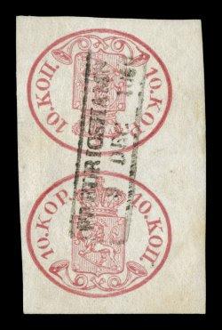 Les premiers timbres de Finlande tête-bêche