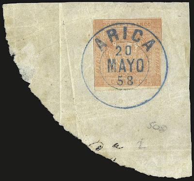 Erreur de couleur sur un timbre péruvien