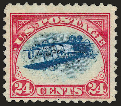 Inverted Jenny, position 24