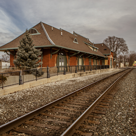 Anderson Indiana Train Depot  by Greg Sommer - Buildings & Architecture Public & Historical