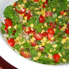 Arugula, Fresh Corn and Tomato Salad