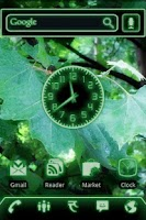 Screenshot of Green Glow Code Clock Widget
