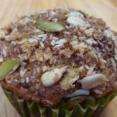Carrot Orange Oatmeal & Walnut Muffins