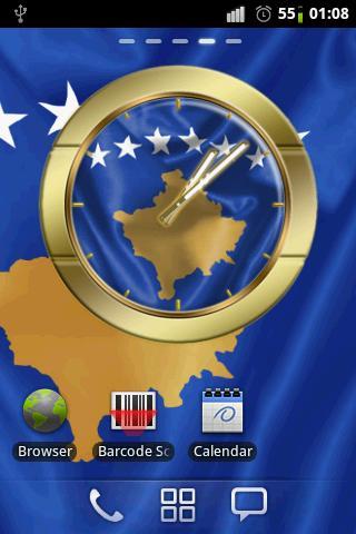 Republic of Kosovo flag clocks