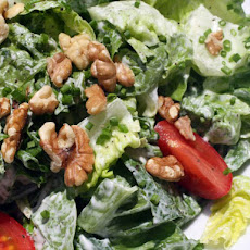 French in a Flash: Green Salad with Creamy Goat Cheese Dressing