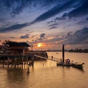 Sunset At Pangkalan Panjang by Stuart Rango - Landscapes Sunsets & Sunrises