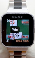 Screenshot of Blackjack for SmartWatch