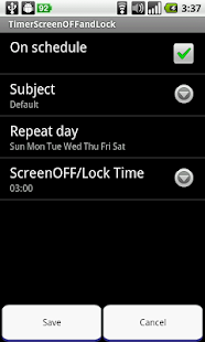 Schedule Screen OFF and Lock - screenshot