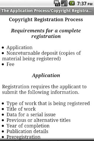 Copyright Procedure