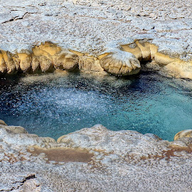 Yellowstone Hot Spring by Jim Czech - Nature Up Close Water ( water, pool, yellowstone national park, hot, rocks, hot spring,  )