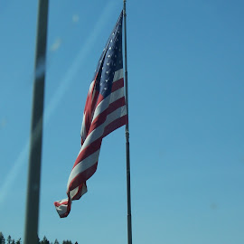 US Flag by Sarah Garrison - City,  Street & Park  Skylines (  )