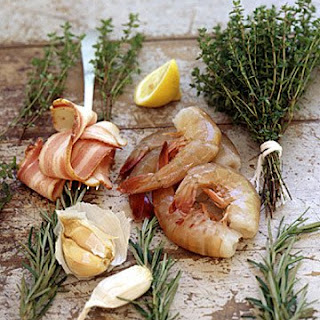 Shrimp Sauteed with Bacon and Herbs