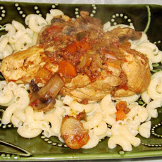 Chicken With Mushrooms and Tomato (Crock Pot)