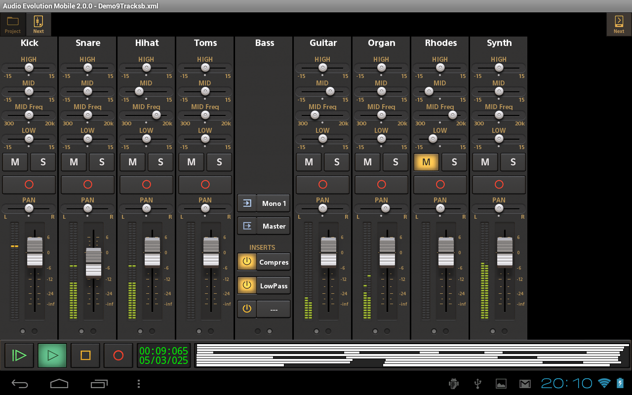 Audio Evolution Mobile Studio Screenshot 9