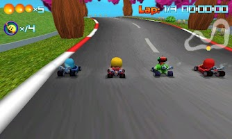 Screenshot of PAC-MAN Kart Rally by Namco