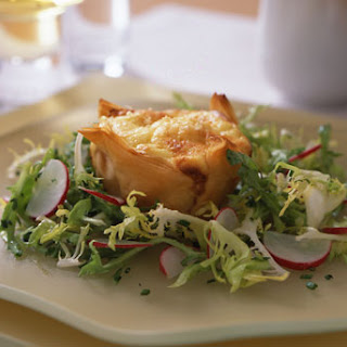Goat Cheese Souffles in Phyllo Cups with Frisée Salad