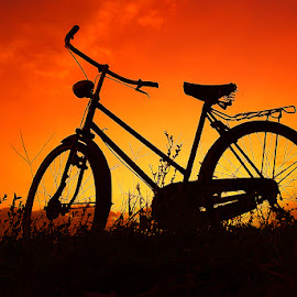 pit jengki by Indra Prihantoro - Transportation Bicycles ( sunset, bicycle )